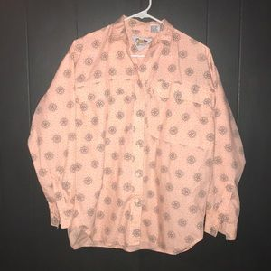 Vintage 80s front cargo pocket button down shirt